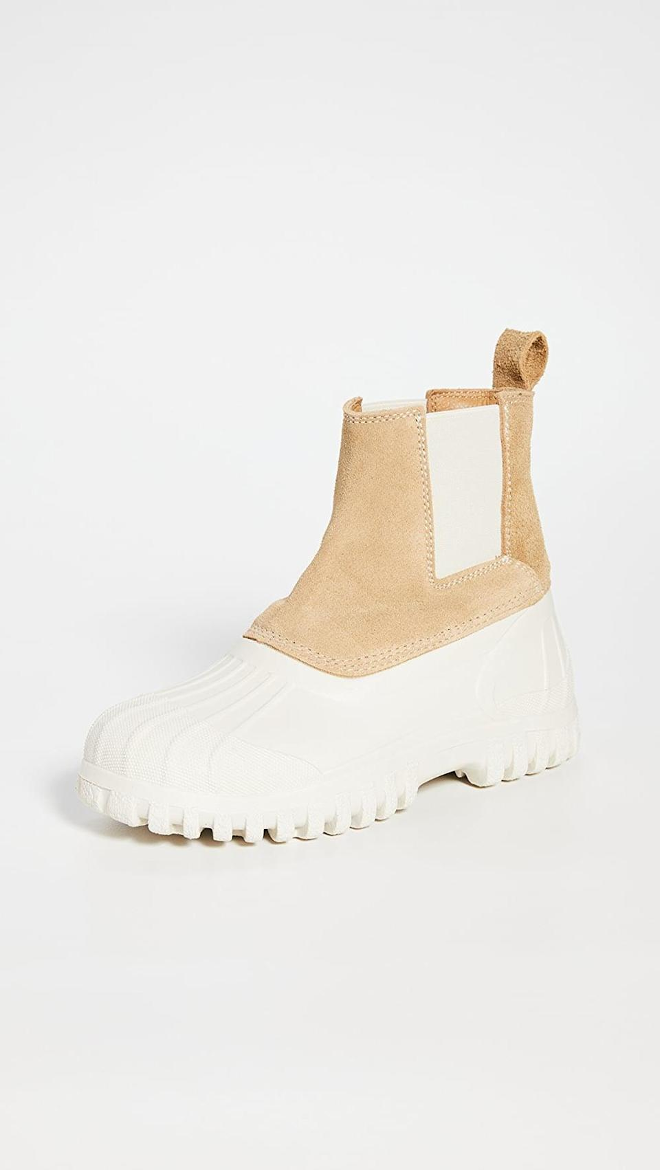 <p>These <span>Diemme Balbi Lug Sole Chelsea Boots</span> ($349) are the perfect addition to a neutral outfit, which we're really feeling this season.</p>