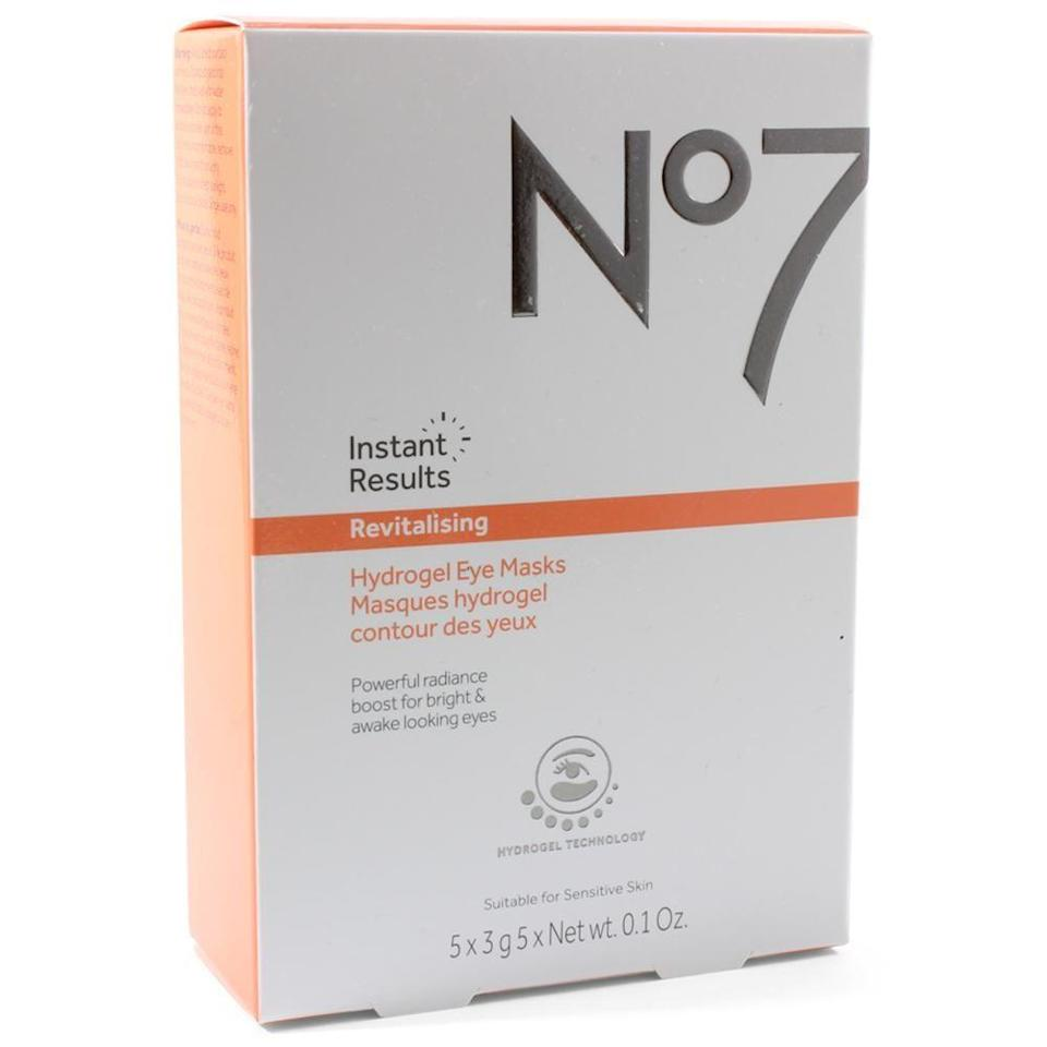 """<p>There are plenty of gel eye masks packed with vitamin C and E to help brighten dark circles, but this affordable option is a standout because the hydrogel patches are grippy enough to actually <em>stay</em> on the undereyes — and deliver ingredients where intended — without sliding down.</p><br><br><strong>No. 7</strong> Instant Results Revitalising Hydrogel Eye Masks, $14.99, available at <a href=""""https://www.ulta.com/instant-results-revitalising-hydrogel-eye-masks?productId=xlsImpprod17162823"""" rel=""""nofollow noopener"""" target=""""_blank"""" data-ylk=""""slk:Ulta Beauty"""" class=""""link rapid-noclick-resp"""">Ulta Beauty</a>"""