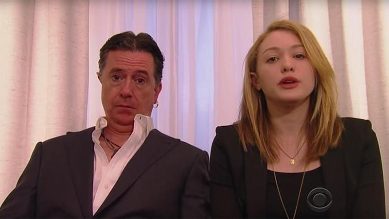 Stephen Colbert spoofs Johnny Depp. Photo: The Late Show