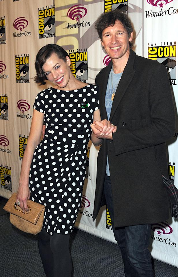"Milla Jovovich and director Paul W.S. Anderson promote Screen Gem's  ""Resident Evil: Retribution"" the 2012 WonderCon - Day 2 held at Anaheim  Convention Center on March 17, 2012 in Anaheim, California."