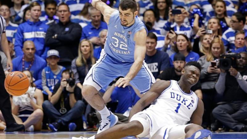 ee8b1f2d1ab Nike promises to investigate why Duke star Zion Williamson s shoe fell  apart resulting in injury