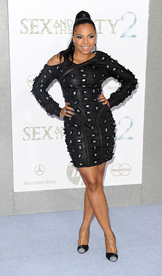 """<a href=""""http://movies.yahoo.com/movie/contributor/1807859589"""">Ashanti</a> at the New York City premiere of <a href=""""http://movies.yahoo.com/movie/1810111276/info"""">Sex and the City 2</a> - 05/24/2010"""
