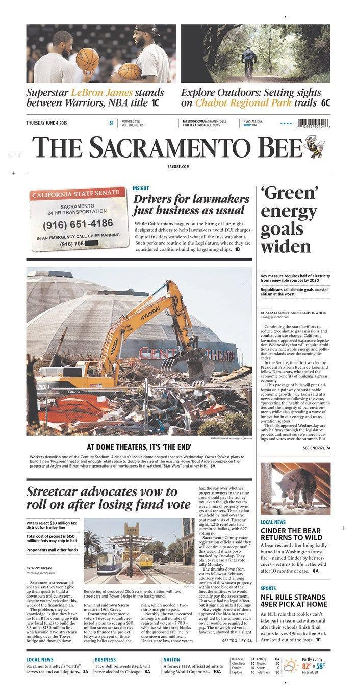 McClatchy, which filed Chapter 11 bankruptcy on Feb. 13, 2020, owns the Sacramento Bee.