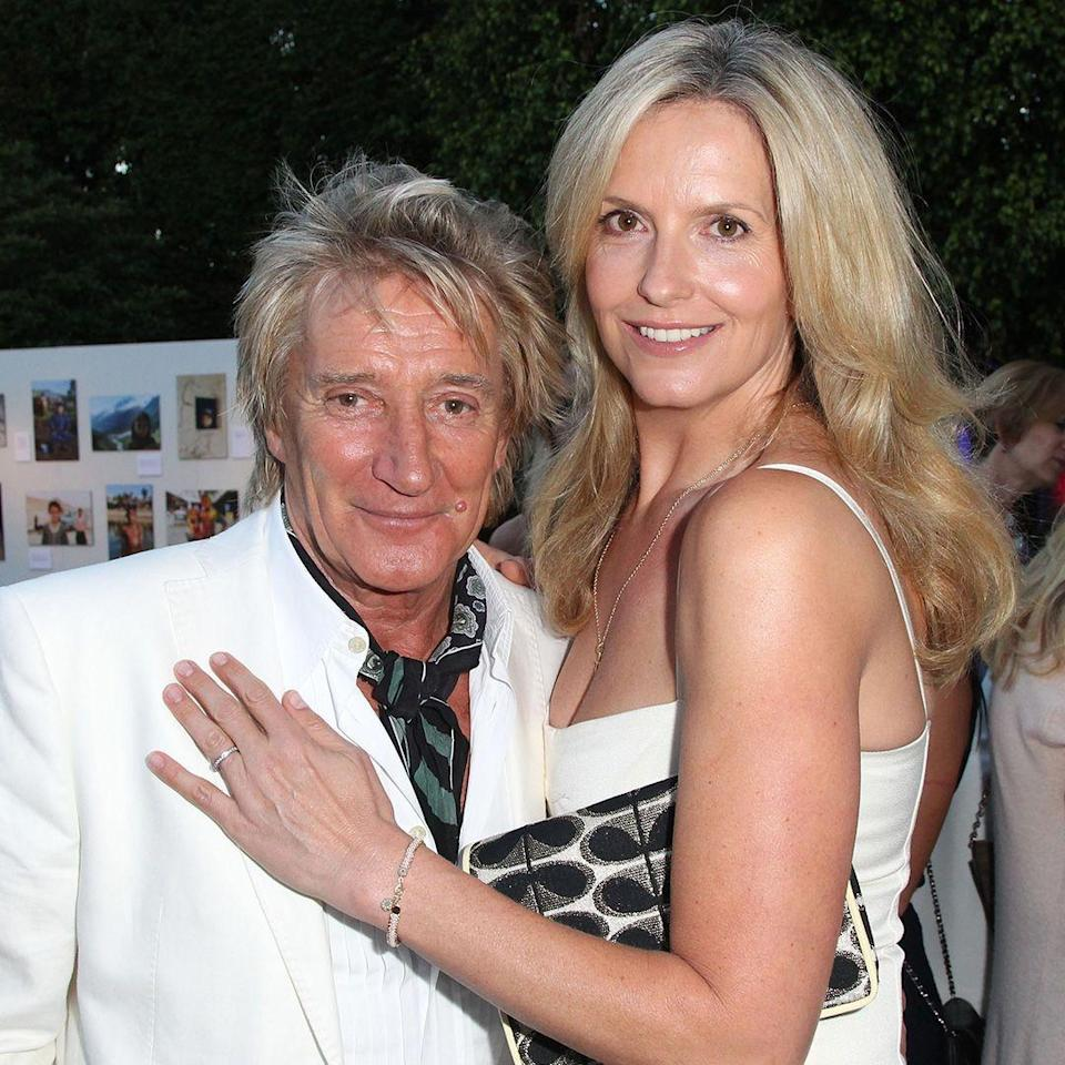 """<p><strong>Age gap:</strong> 26 years </p><p>Rod, 74, and Penny, 48, married in 2007, and renewed their vows in 2017. """"She is my whole world. What a girl,"""" Rod said at the time, per the <a href=""""http://www.dailymail.co.uk/tvshowbiz/article-4659512/Sir-Rod-Stewart-Penny-Lancaster-renew-vows.html"""" rel=""""nofollow noopener"""" target=""""_blank"""" data-ylk=""""slk:Daily Mail"""" class=""""link rapid-noclick-resp""""><em>Daily Mail</em></a>.</p>"""