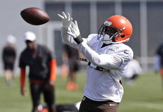Cleveland Browns wide receiver Antonio Callaway has been suspended for the first four games of the regular season. (AP)