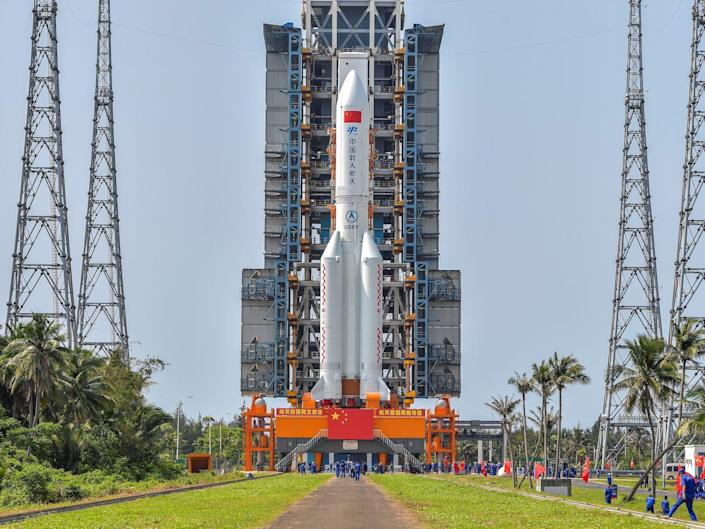 china space station launch Long March-5B Y2 rocket