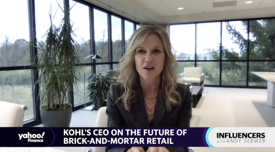 """Kohl's CEO Michelle Gass appears on """"Influencers with Andy Serwer."""""""