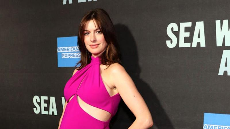 Anne Hathaway's Pregnancy Glow Is Undeniable as She Debuts Baby Bump