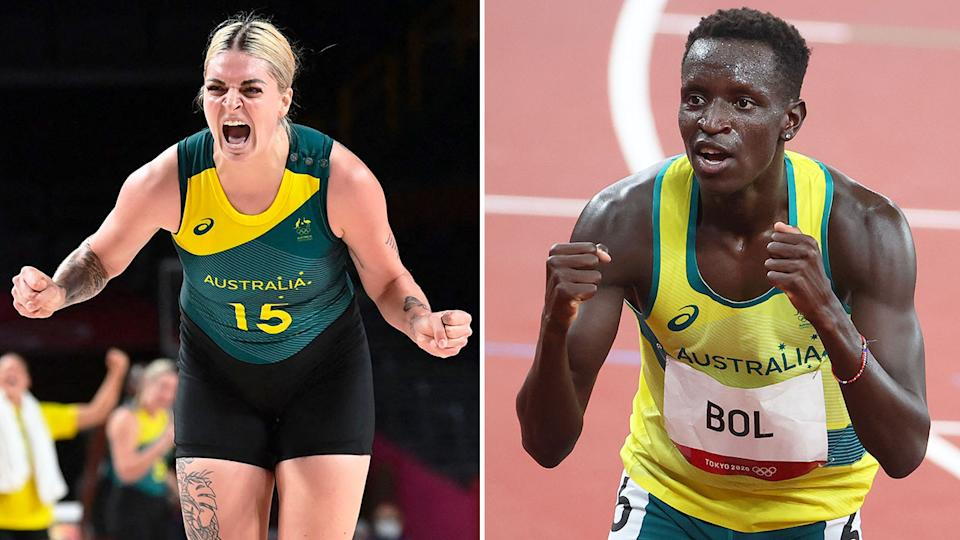 Seen here, Opals and Peter Bol have given Aussie fans plenty to cheer about in Tokyo.