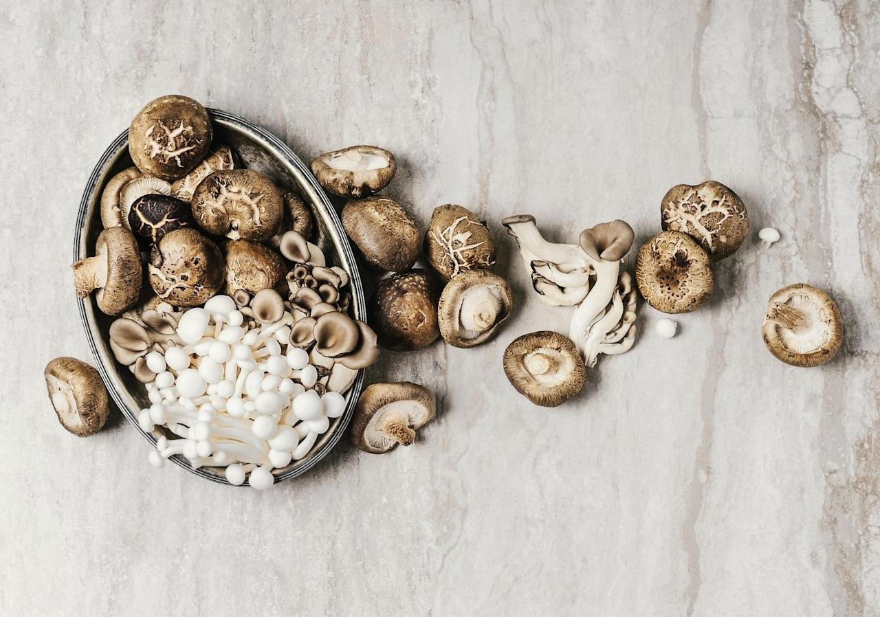 "<p>Mushrooms might not be the first brain food to come to mind, but the fungi have been found to reduce mild cognitive impairment (MCI), which is the stage between the cognitive decline that happens with regular aging and actual dementia.</p><p>Recent <a href=""https://content.iospress.com/articles/journal-of-alzheimers-disease/jad180959"" target=""_blank"">research</a> published in the <em>Journal of Alzheimer's Disease</em> <em></em>found that eating two or more 150-gram servings of <a href=""https://www.bicycling.com/news/a25222137/new-nutrition-trends-for-training/"" target=""_blank"">mushrooms</a> per week over six years resulted in a 57 percent reduced MCI risk among participants over age 60. </p>"