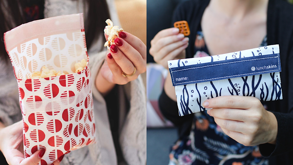 Reusable snack bags.