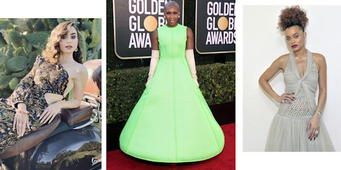 """<p>The precursor to any """"best dressed"""" list right now is that we bow down to anyone bringing their A game """"in these times."""" Below see ten looks that stood out in a very chic Golden Globes crowd—from both coasts on red carpets and on Instagram. Nothing is the same but there are still ball gowns to dream about. </p>"""