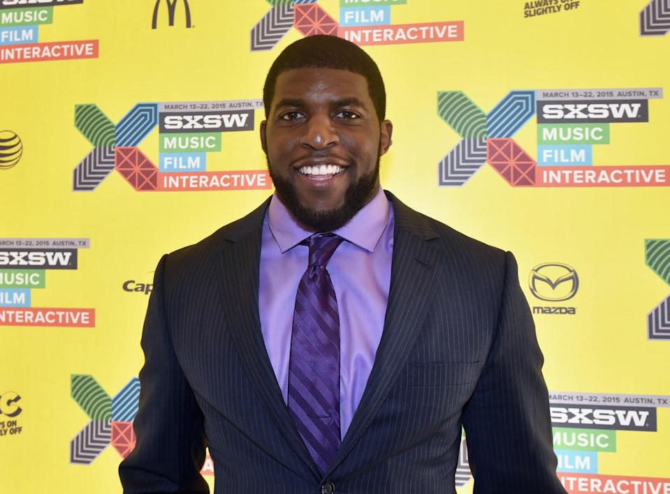 AUSTIN, TX - MARCH 13: NFL player Emmanuel Acho attends 'Problem Solvers: Compensating College Athletes for Their Likeness' during the 2015 SXSW Music, Film + Interactive Festival at Four Seasons Hotel on March 13, 2015 in Austin, Texas. (Photo by Amy E. Price/Getty Images for SXSW)