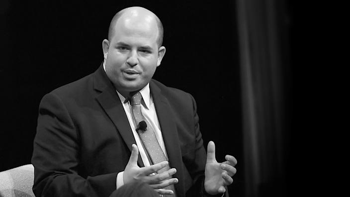 Senior Media Correspondent at CNN, Brian Stelter speak onstage at Day 1 of the Vanity Fair New Establishment Summit 2018 at The Wallis Annenberg Center for the Performing Arts on October 9, 2018 in Beverly Hills, California.  (Matt Winkelmeyer/Getty Images)