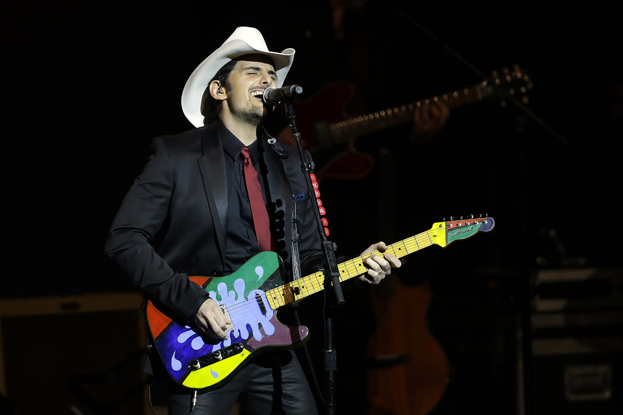 <b>14. Brad Paisley - $12,848,724.84</b><br><br>Brad Paisley performs during The Inaugural Ball at the Washignton convention center during the 57th Presidential Inauguration.