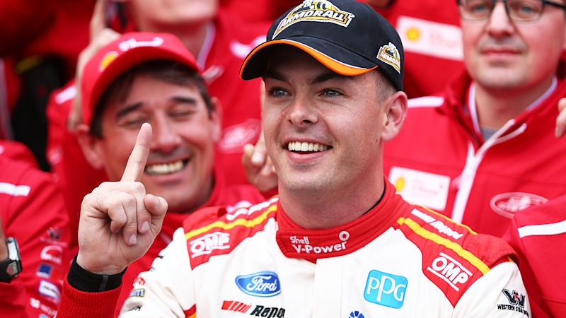 Scott McLaughlin has been stripped his his pole position from the Bathurst 1000, after a technical breach was discovered in his team's qualifying engine. (Photo by Robert Cianflone/Getty Images)