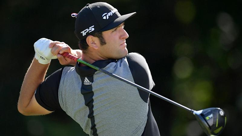 NORTON, MA - SEPTEMBER 02: Jon Rahm of Spain plays his shot from the 14th tee during round two of the Dell Technologies Championship at TPC Boston on September 2, 2017 in Norton, Massachusetts. (Photo by Drew Hallowell/Getty Images) ** OUTS - ELSENT, FPG, CM - OUTS * NM, PH, VA if sourced by CT, LA or MoD **