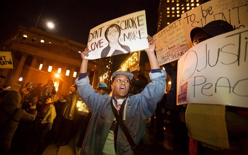 The decision not to indict the officer involved in the death of Eric Garner sparked widespread protests - EPA