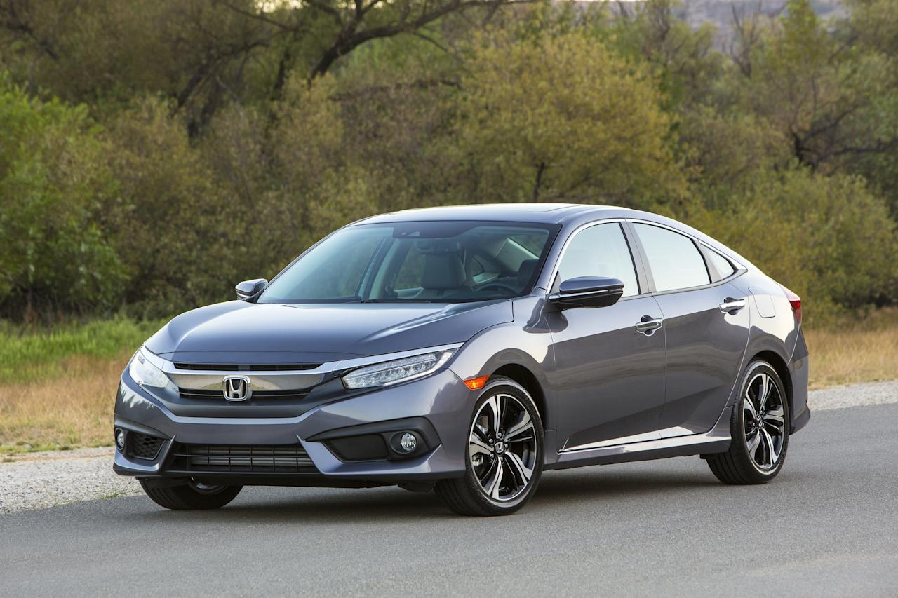 <p> This photo provided by Honda shows the 2017 Honda Civic sedan, for which the average monthly purchase payment was $388 in the first half of 2017, according to Edmunds research. For shoppers who leased the car, the average payment was $266, or 31.5 percent less. Many Americans buy cars, perhaps out of habit, but the trade-in patterns and financial impacts suggest they might be better off leasing. (Courtesy of American Honda Motor Co. Inc. via AP) </p>