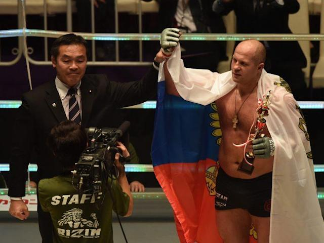 Fedor Emelianenko is 36-4 with one no contest in his professional MMA career. (Getty)