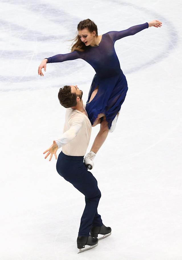 Figure Skating - World Figure Skating Championships - The Mediolanum Forum, Milan, Italy - March 24, 2018 France's Gabriella Papadakis and Guillaume Cizeron during the Ice Dance Free Dance REUTERS/Alessandro Bianchi