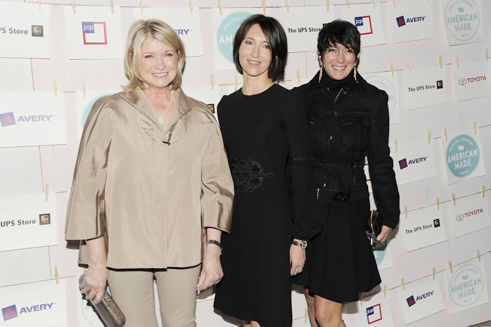 "<div class=""inline-image__caption""><p>Martha Stewart, Kira Faiman, Ghislaine Maxwell attend Martha Stewart's Inaugural American Made Awards at Vanderbilt Hall on October 16, 2012 in New York City.</p></div> <div class=""inline-image__credit"">Nicholas Hunt/Patrick McMullan via Getty</div>"
