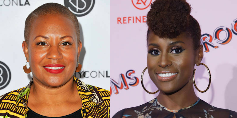 Felicia Leatherwood is the mastermind behind Issa Rae's creative natural hair styles. (Getty Images/HuffPost)