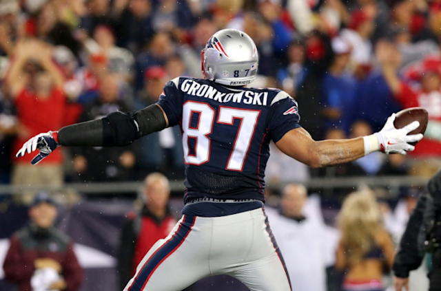 Rob Gronkowski of the New England Patriots. (Getty Images)