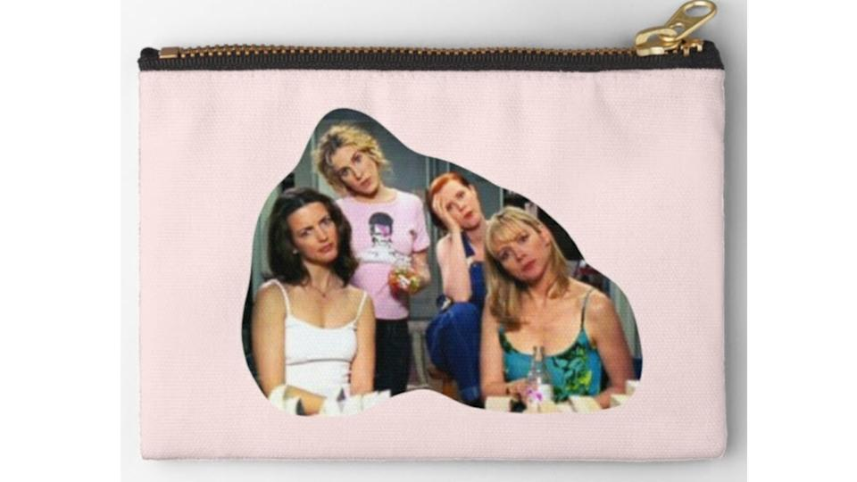'Sex & the City' Gals Zipper Pouch. (Image via Redbubble)