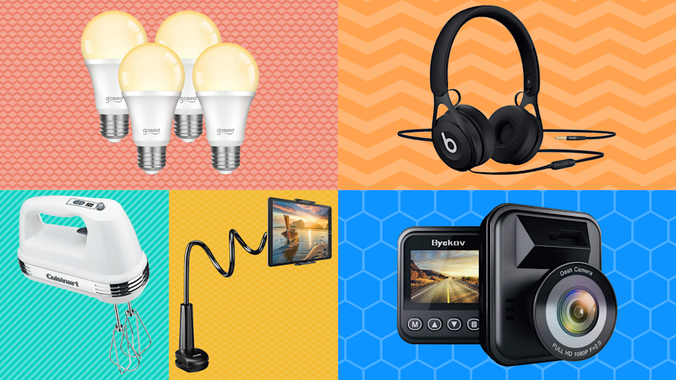 Pick a box, any box and score up to 65 percent off top-rated headphones, smart home light bulbs, dash cams and more. (Photo: Amazon)