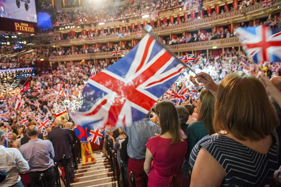 File photo dated 13/9/2014 of members of the audience during the Last Night of the Proms at the Royal Albert Hall, London. The BBC risked a fresh row after announcing that traditional favourites such as Land Of Hope And Glory will be performed without lyrics at the Proms.