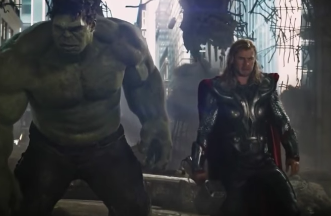 The Incredible Hulk and the Mighty Thor in