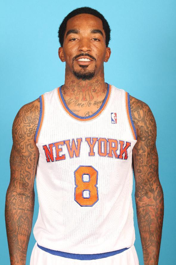 TARRYTOWN, NY -September 30: J.R. Smith of the New York Knicks pose for a portrait during 2013 NBA Media Day at the MSG Training Facility on September 30, 2013 in Tarrytown, New York. (Photo by Ray Amati/NBAE via Getty Images)