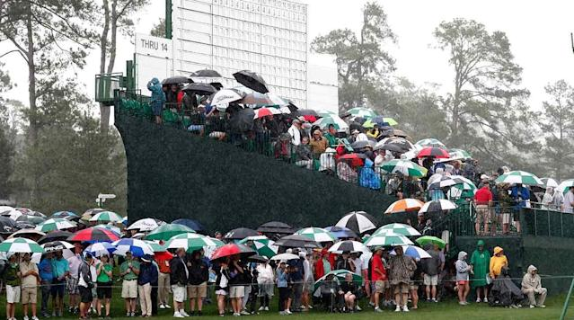 Storms shut down Augusta National Golf Club early on Wednesday.