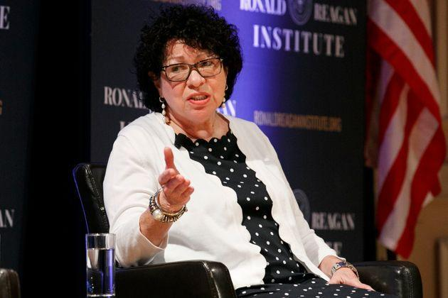 Supreme Court Justice Sonia Sotomayor, seen in 2019, has said that justices have become more mindful of interrupting one another following a study on women being disproportionately interrupted by male justices. (Photo: via Associated Press)