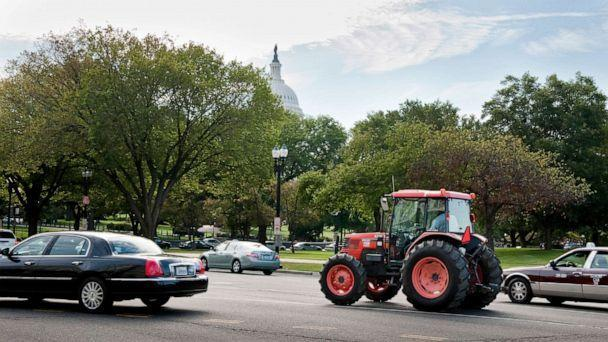 PHOTO: Baskerville, Va., farmer John W. Boyd Jr. arrives on Capitol Hill on a borrowed tractor to urge the U.S. Senate and President Obama to pass $1.15 billion in funding for a settlement in a 1997 case against the Agriculture Department. (Scott J. Ferrell/Getty Images, FILE)