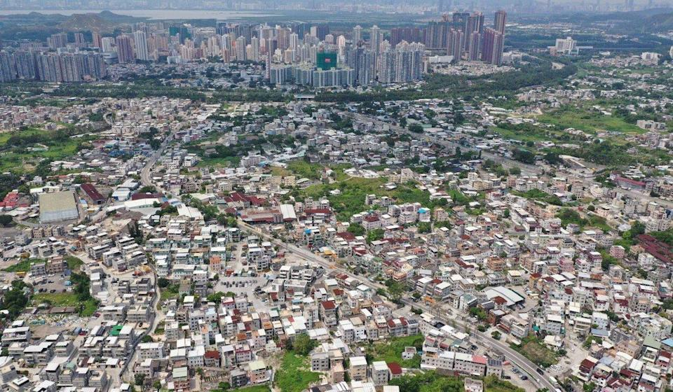 An aerial view of indigenous village houses in the New Territories. Photo: Winson Wong