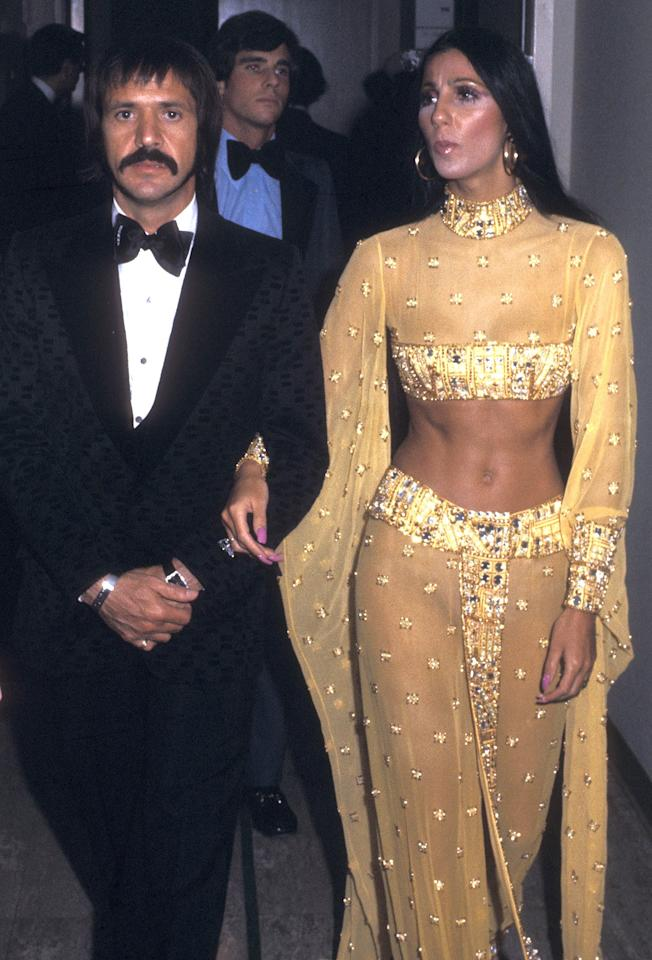 Does it get more classic than Sonny and Cher? Cher's abs unfortunately not included.