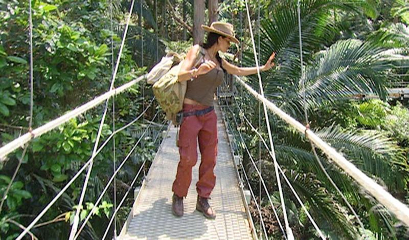 """She lasted right till the end first time around, but at her second crack of the 'I'm A Celeb' whip, the Bushtucker Trials proved too much for Katie, who had returned to the jungle to get """"closure"""" after splitting from Peter Andre."""