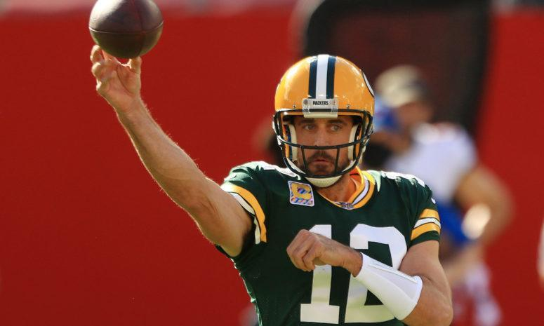 Green Bay Packers quarterback Aaron Rodgers against the Bucs.