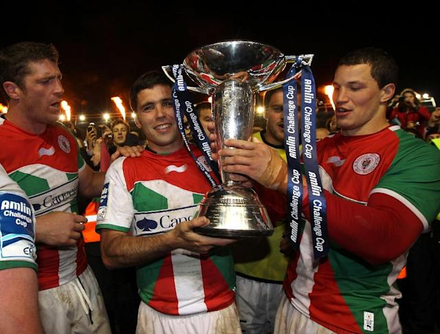Biarritz took home the 2012 Challenge Cup -- the most competitive European rugby league tournament (AFP Photo/IAN KINGTON)