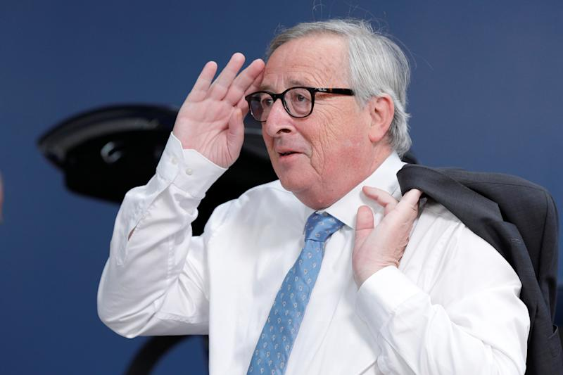 European Commission President Jean-Claude Juncker arrives to take part in a European Union leaders summit, in Brussels, Belgium July 2, 2019. Geoffroy Van Der Hasselt/Pool via REUTERS