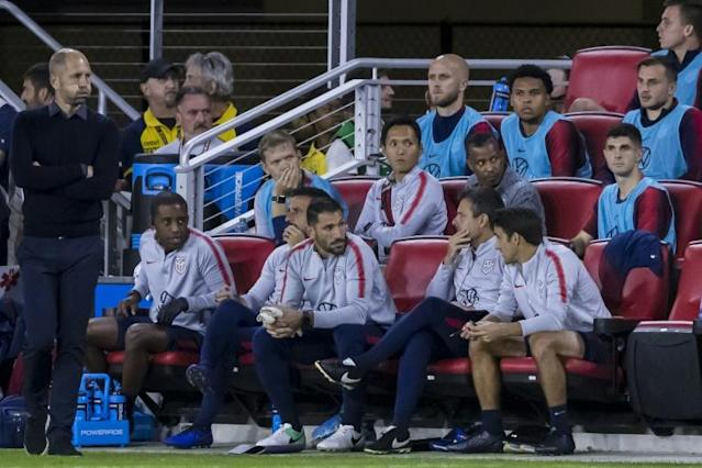 USA coach Gregg Berhalter insists there is no reason to panic despite his team's shock loss to Canada (AFP Photo/Scott Taetsch)