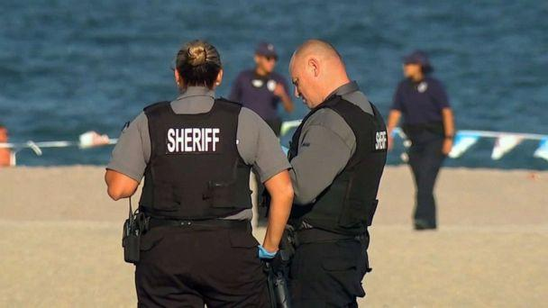 PHOTO: Authorities stand on the beach after a stabbing at Point Pleasant Beach in New Jersey on Sept. 7, 2020. (WABC)