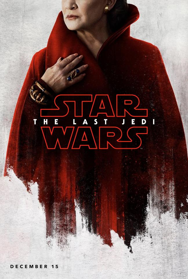 <p>Carrie Fisher as General Leia Organa (Disney) </p>