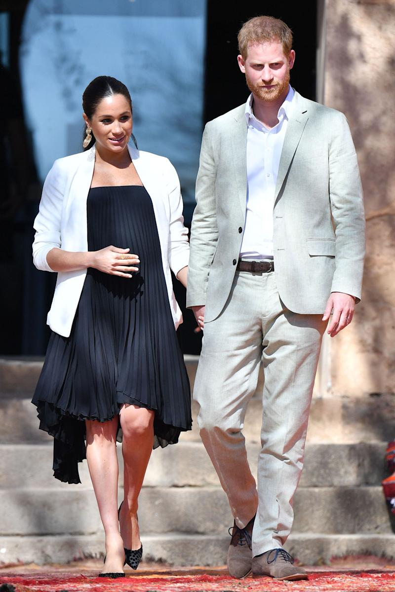 3b06972b39 Meghan Markle and Prince Harry Go from Casual to Chic on Final Day in  Morocco