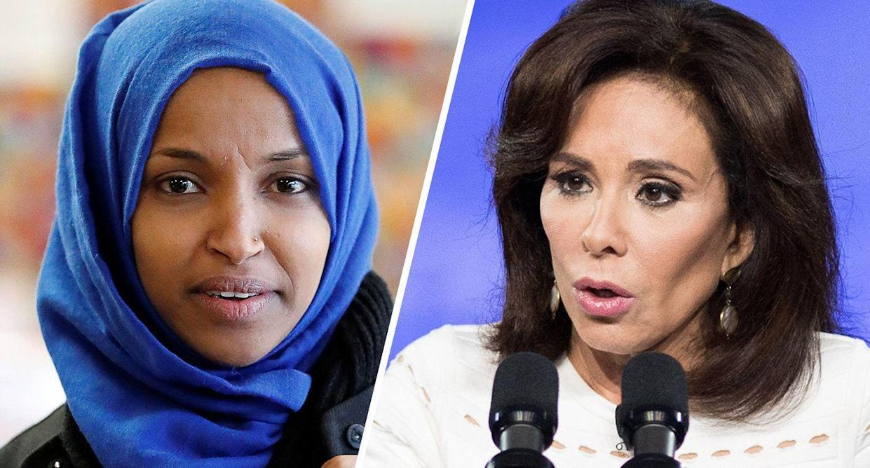 Ilhan Omar and Jeanine Pirro (Photos: Eric Miller/Reuters, Michael Brochstein/SOPA Images/LightRocket via Getty Images)