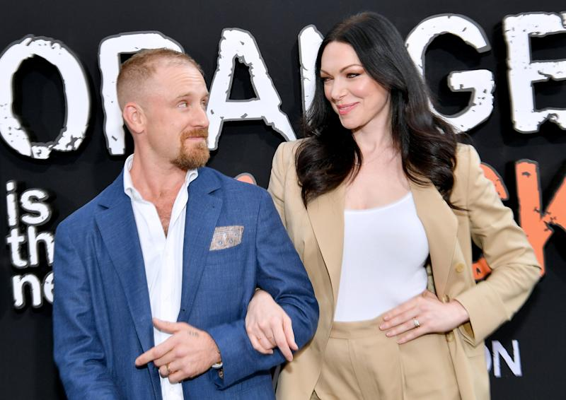 NEW YORK, NEW YORK - JULY 25: Ben Foster and Laura Prepon attend the Orange is the New Black Season 7, World Premiere Screening and Afterparty 2019 on July 25, 2019 in New York City. (Photo by Dia Dipasupil/Getty Images for Netflix)