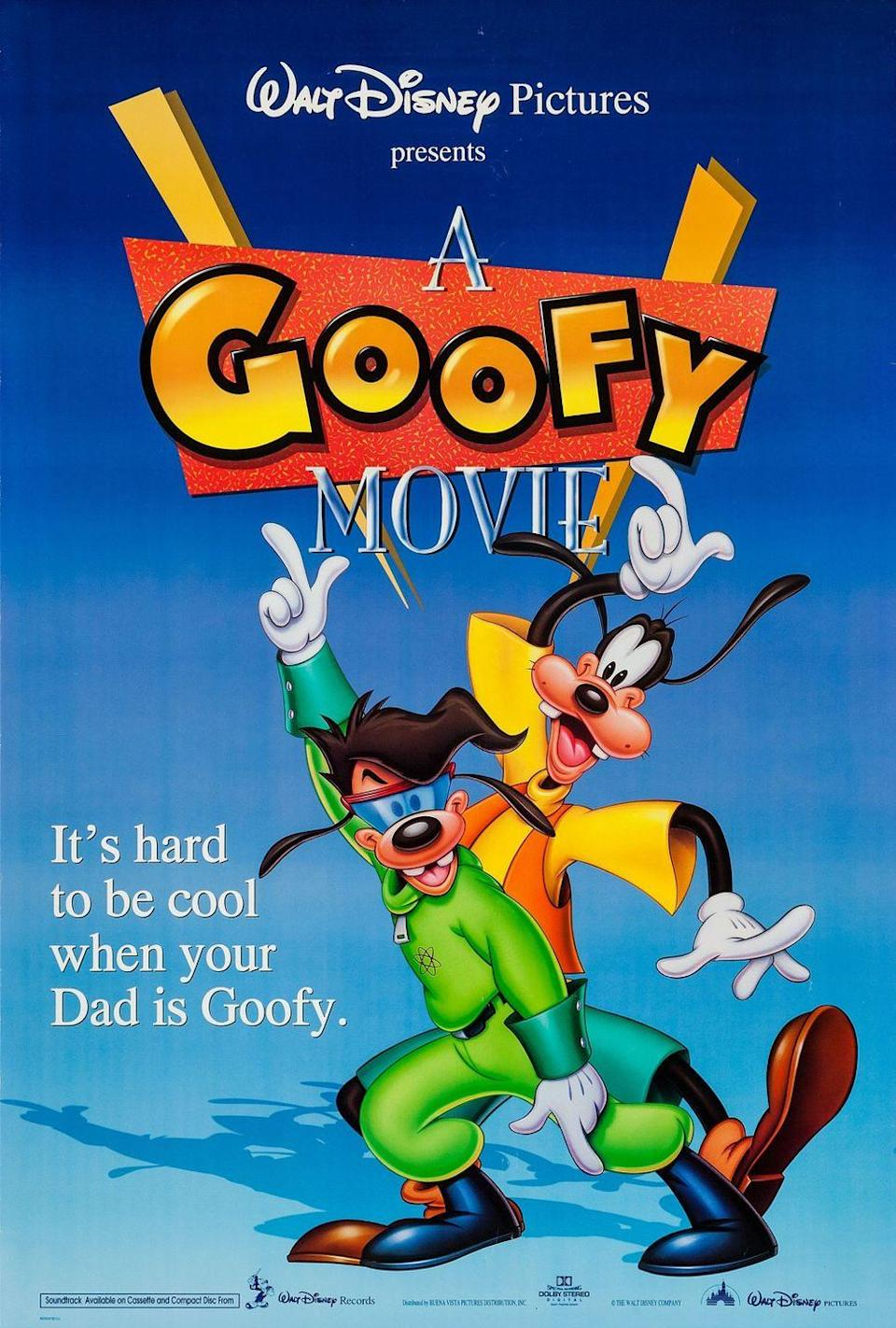 """<p><a class=""""link rapid-noclick-resp"""" href=""""https://movies.disney.com/a-goofy-movie"""" rel=""""nofollow noopener"""" target=""""_blank"""" data-ylk=""""slk:STREAM NOW"""">STREAM NOW</a></p><p>In this classic animated film, Goofy and his son Max must find a balance between their shifting father-son relationship. Revealing the lesson that you may not be as different from your dad as you think, <em>A Goofy Movie </em>will tug at your both heartstrings and your funny bone at the same time.</p>"""