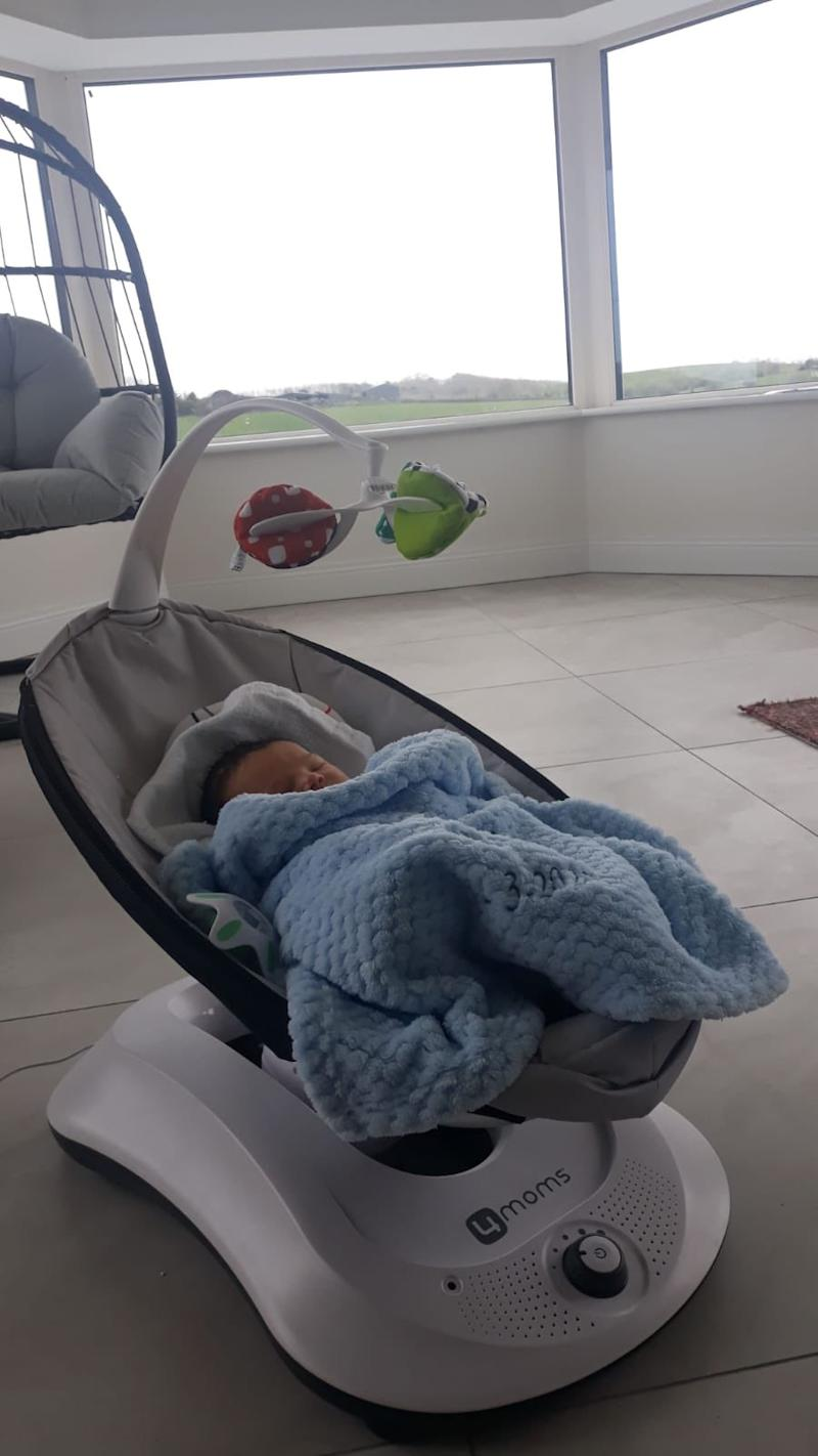 Baby Faolán is 'doing great' says aunty Emma. Photo: Twitter/emmabethgall.